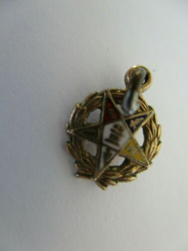 12K YELLOW Gold Eastern Star Brooch CHARM Pin #46 Shriners Masons RARE #00Q