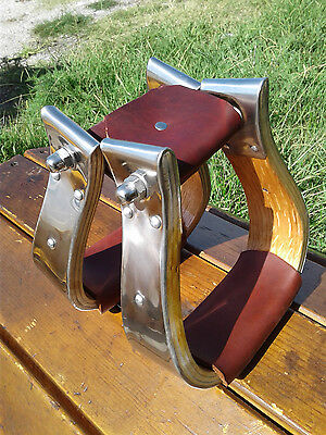 """2"""" Stainless Monel Bell Ranch Roping Cutting Saddle Stirrups"""