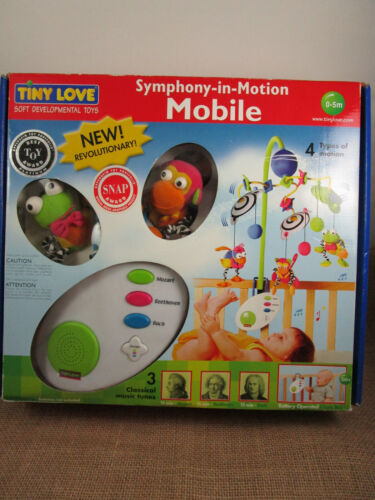VINTAGE Tiny Love SYMPHONY-IN-MOTION MOBILE New in Open Box 2000 Crib Musical