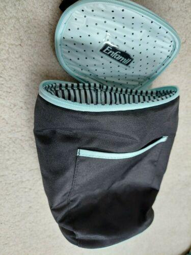 ENFAMIL Baby Bottle Travel Cooler Carrier Case Black & Teal