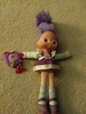 vintage hallmark rainbow brite purple doll with plush sprite