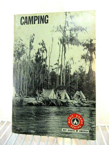Boy Scout Merit Badge Series Pamphlet Book Camping Vintage 1966 BSA Booklet