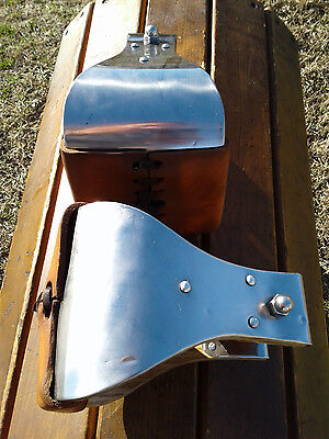 "5"" Stainless Monel Bell Ranch Roping Saddle Stirrups"