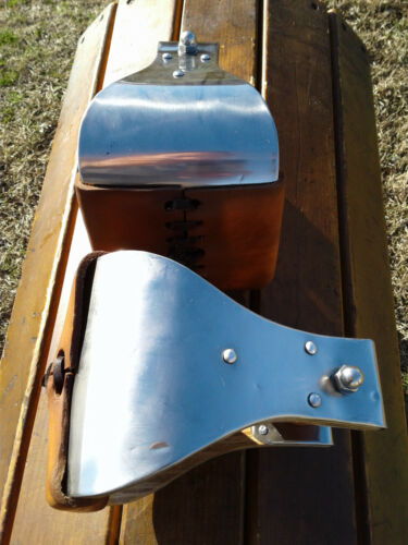 """5"""" Stainless Monel Bell Ranch Roping Saddle Stirrups"""