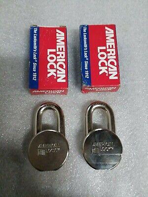 H10 American Lock Padlocks Ah10ka - Lot Of 2 - No Keys - 60 Day Warranty