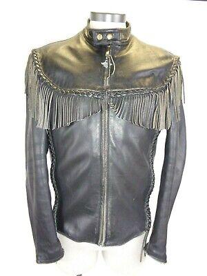 Vintage Mens Harley Davidson Willie G leather jacket  Sz 44 Made in Korea