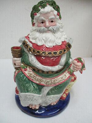 1993 FITZ & FLOYD SANTA GHOST OF CHRISTMAS COOKIE JAR IN ORIG BOX