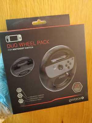 Gioteck Duo Wheel Pack Nintendo Switch Mario Kart Joy Con Controller Remote New