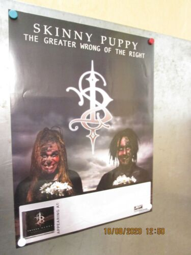 SKINNY PUPPY Greater Wrong Of The Right Promo Poster 2003 New! SPV Ryko
