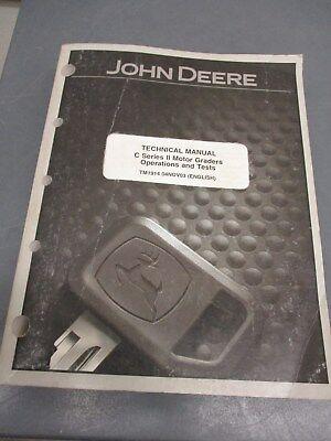 John Deere Technical Manual C Series Ii Motor Graders Tm1914