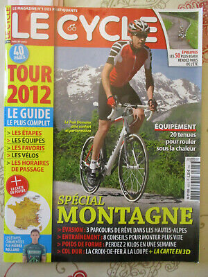 LE CYCLE N°425: JUILLET 2012: SPECIAL TOUR DE FRANCE + LA CARTE + GUIDE ETAPES -