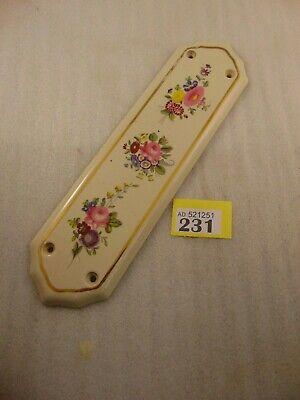 Antique Ceramic Door Finger Plate Furniture 231