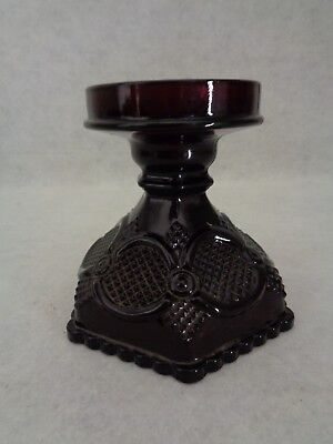 Avon Ruby Red Cape Cod Large Candle Holder (Cat.#8A013)