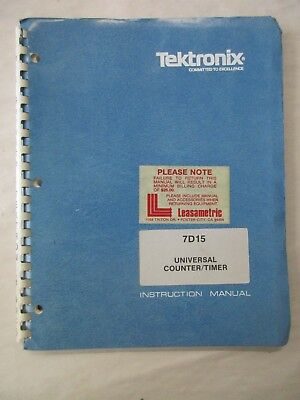 Tektronix 7d15 Universal Counter Timer Instruction Service Manual 070-1433-00