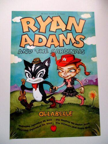 RYAN ADAMS FILLMORE POSTER WARFIELD POSTER Original Bill Graham OLLABELLE Bgp324