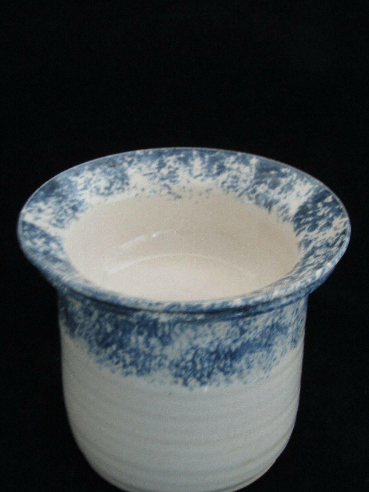 Studio Crafted White Blue Pottery Dip Cheeseball Chiller 2 Piece Server Set - $24.99