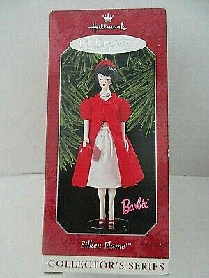 NIB Silken Flame Barbie Hallmark Christmas Keepsake Ornament 5th in Series1998