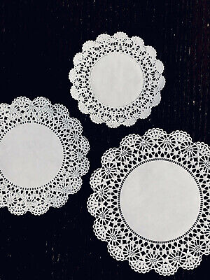 150 White Round Paper Lace Doilies Variety Pack 4