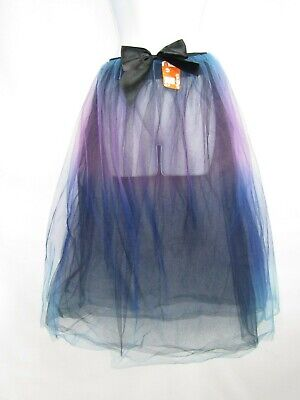 Claire's Ombre Aqua/Purple/Black Skirt Tulle Tutu Halloween Costume Women's