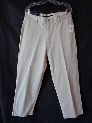 Nautica Men's Off White Relaxed Fit Classic Twill Khaki Pants Size 33 x 30 NWT