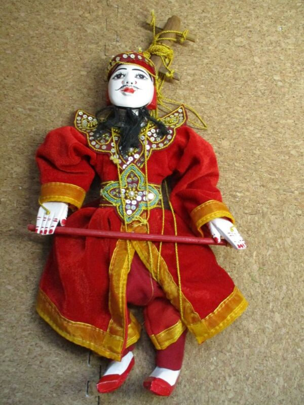 "Chinese Opera Marionette Puppet - 12"" Contemporary ( Porcelain Head,Wooden Body)"