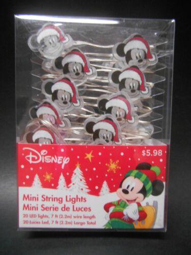 Ruz Disney Mickey Mouse Santa Hat Heads Christmas LED Mini String Lights