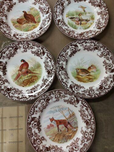 spode woodland set of 5 dinner plates