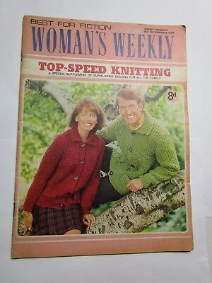 WOMAN'S WEEKLY Best for Fiction with Knitting Supplement 2nd November (Best Fiction For Women)