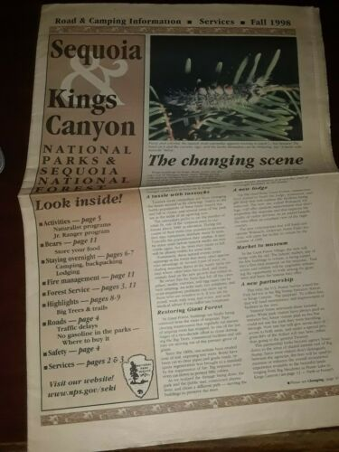 Sequoia & Kings Canyon National Park Newspaper 1998