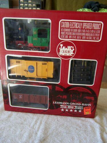 """LGB G Gauge 20401 The Big Train Steam Train Set """"MIB"""""""