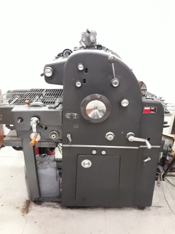 AB Dick 360   With T51 Head, Offset Printing Press