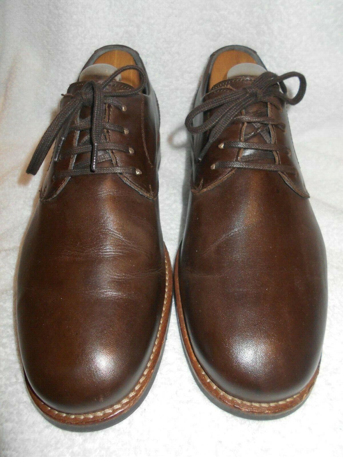 Near Mint Cloud9 W/ New 45 Samuel Hubbard Insoles Brown Plain Toe Oxfords 10 - $54.50