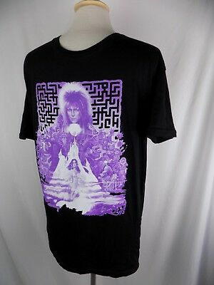 David Bowie RARE Purple & Black shirt Large Ziggy Stardust Rock Me