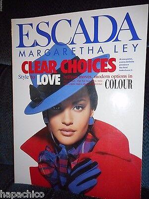 ESCADA Vintage 1992 Fashion Catalog Book Advertising  Marketing Autumn Winter