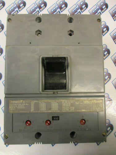 Westinghouse HLA3600F, 500A Trip, 600V, 3P, Breaker- RECON+TEST REPORT+WARRANTY
