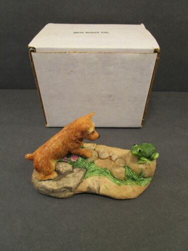 Charmstone by Earl Sherwan DOG and FROG ColdCast Marble Marv-Art Norwich ? 1985