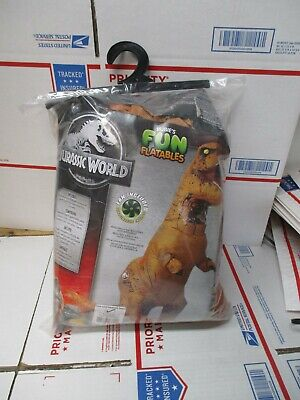 JURASSIC WORLD INFLATABLE T-REX ADULT PLUS SIZE COSTUME NEW FAST SHIPPING