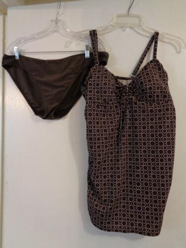 2 Pc Maternity Swimsuit Sz XL Motherhood Tankini Top/Old Navy Bottoms Sz Large