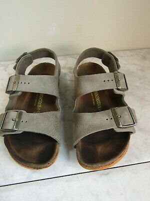 Birkenstock Brown Leather Two Strap Slingback Sandal Shoes Size Children's EU 33
