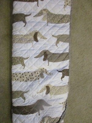 Sleeping Partners New York Full/Queen Dachshund Sausage Dogs 3 Piece Quilt Set
