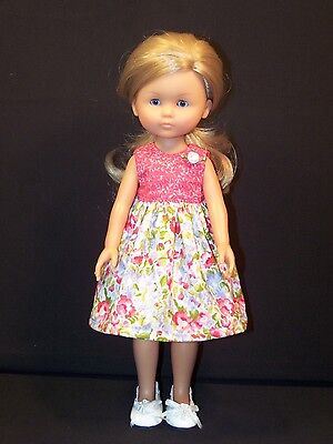"""Clothes for Corolle les Cheries,Paola Reina Doll Floral Dress Handmade 13"""""""