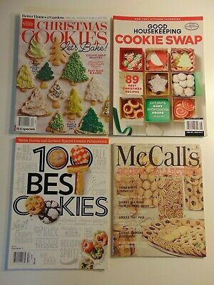 Lot 4 Christmas Cookie Magazines -- Better Homes & Gardens, Good Housekeeping  ()