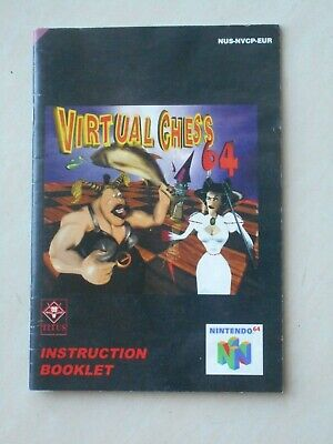 BOOKLET ONLY genuine Virtual Chess 64 instruction manual nintendo 64