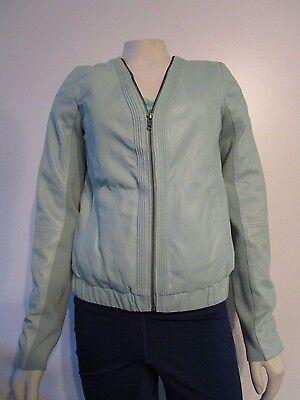 Womens S Trouve Fashion Leather Moto Full Zip Light Coat Jacket TBD1850 - Mint