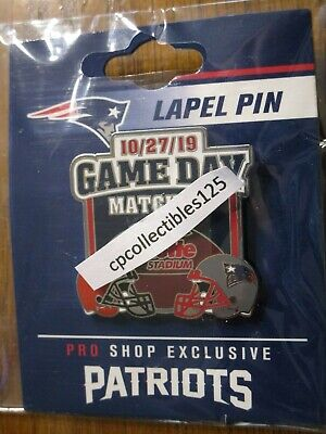 New England Patriots VS Cleveland Browns Game Day Pin October 27, 2019 NEW