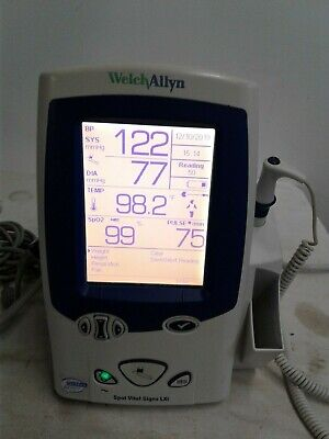 Welch Allyn Lxi 45nto Spot Vital Signs Monitor Nibp Temp Spo2 With Cuff Size 12