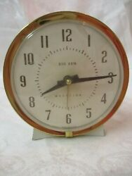 Vintage Westclox Big Ben brass & metal Windup Alarm Clock Model 75 102 4A runs