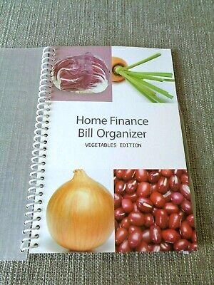Bill Organizer Home Finance Book Monthly Pockets Vegetables Edition