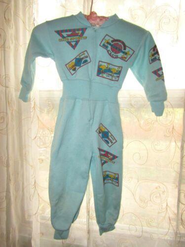 Vintage Toosie Roll Pajamas Blue One piece Sz Small