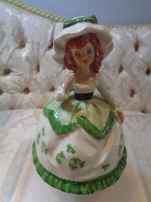 Vintage St. Patrick's Irish Lassie Music Box plays